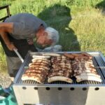 Grill in Aktion